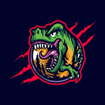 Logotipo trex mascot