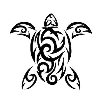 Logotipo tribal de tartarugas marinhas