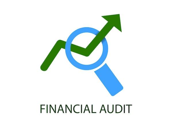 Logotipo vector verde e azul claro para educação de clube de instituição de auditoria financeira e outros relacionados