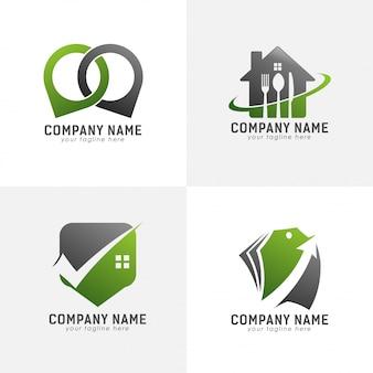 Logotipo verde abstrato