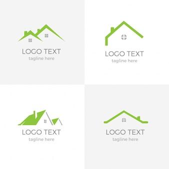Logotipo verde agradável imobiliário