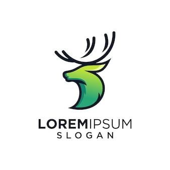 Logotipo verde dos cervos
