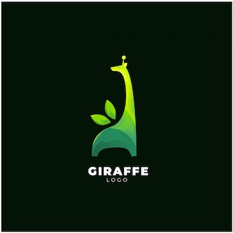Logotipo verde girafa