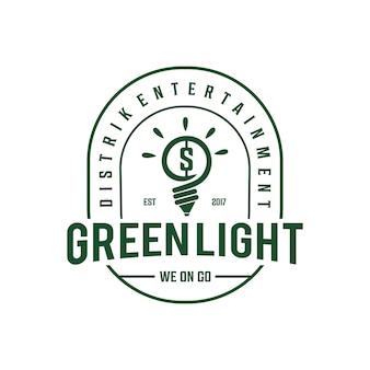 Logotipo vintage da lâmpada