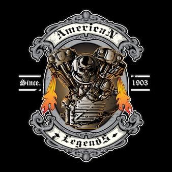 Logotipo vintage da motocicleta