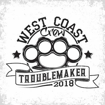 Logotipo vintage da troublemakers