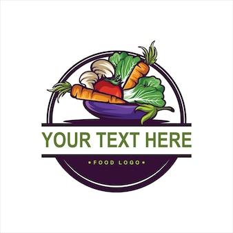 Logotipo vintage de alimentos