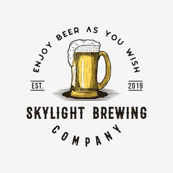Logotipo vintage de cerveja