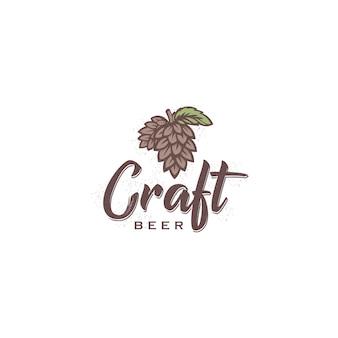 Logotipo vintage de cervejaria artesanal