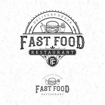 Logotipo vintage de fast-food