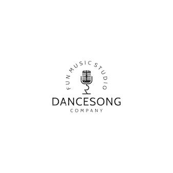 Logotipo vintage de música
