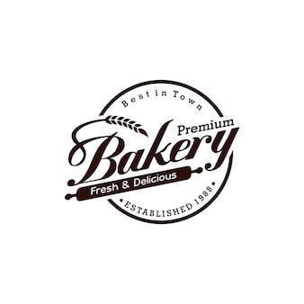 Logotipo vintage de padaria