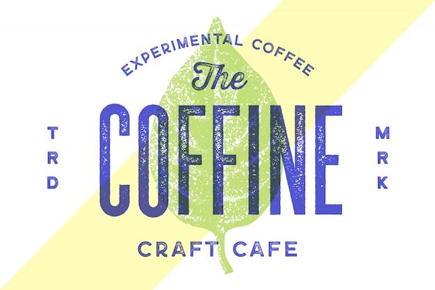 Logotipo vintage de tipografia para café