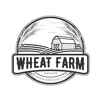 Logotipo vintage de trigo