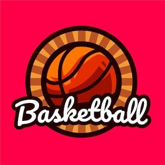 Logotipo vintage do basquete
