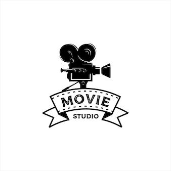 Logotipo vintage do criador de filmes