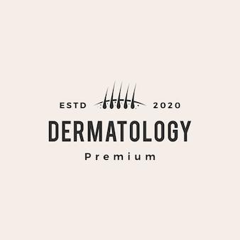 Logotipo vintage do folículo dermatológico