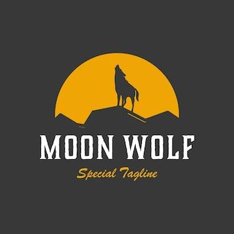 Logotipo vintage do lobo