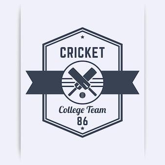 Logotipo vintage do time de críquete