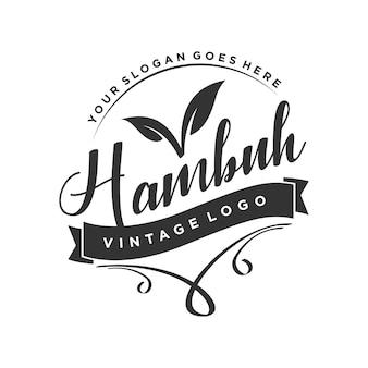 Logotipo vintage eco verde