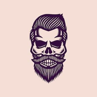 Logotipo vintage elegante do crânio