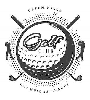 Logotipo vintage golf