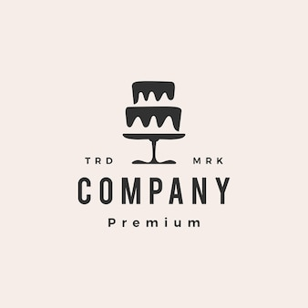 Logotipo vintage moderno da padaria de bolos de casamento