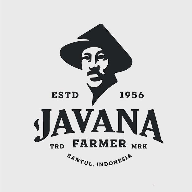Logotipo vintage negativo do space farmer
