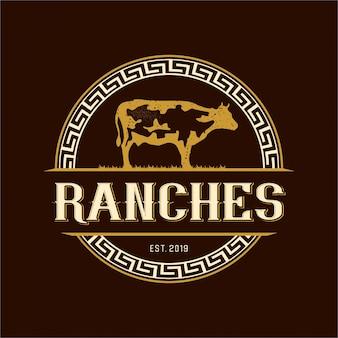 Logotipo vintage para fazendas