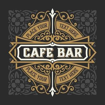 Logotipo vintage vintage para restaurante, cafeteria. em camadas