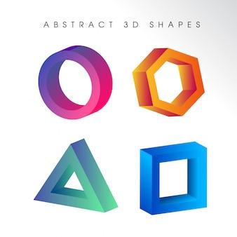 Logotipos 3d abstratos coloridos