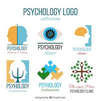 Logotipos abstratos para a clínica psicológica