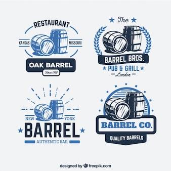Logotipos barril retro