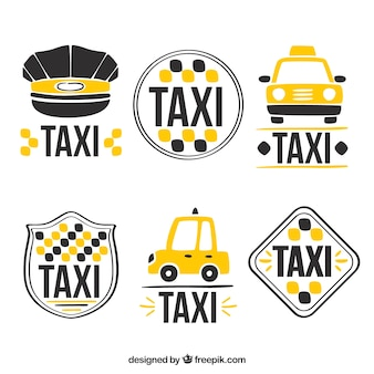 Logotipos bonitos para serviço de táxi