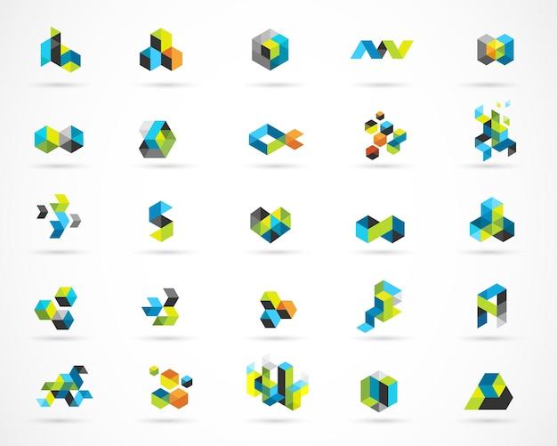 Logotipos coloridos abstratos digitais criativos