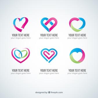 Logotipos coração abstrato