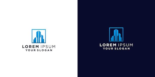 Logotipos criativos de casas e edifícios
