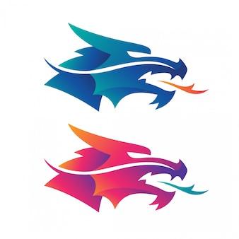 Logotipos da cabeça do dragão