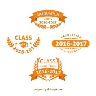 Logotipos da faculdade de laranja