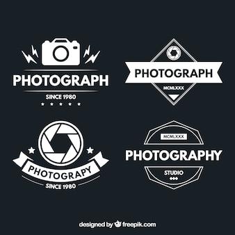 Logotipos da fotografia no projeto do vintage