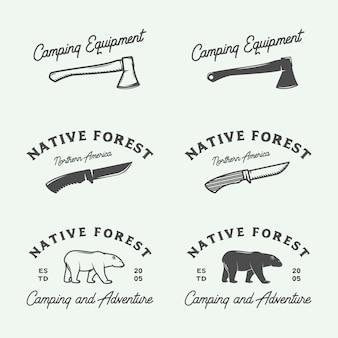 Logotipos de aventura de campismo