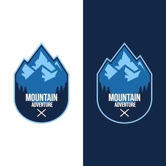 Logotipos de aventura na montanha