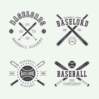 Logotipos de beisebol vintage