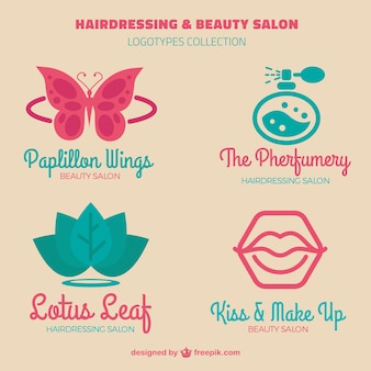 Logotipos de cabeleireiros ornamentais