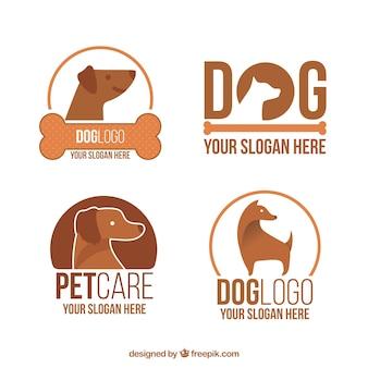 Logotipos de cães grandes em tons marrons