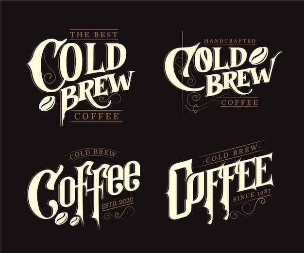 Logotipos de café fresco