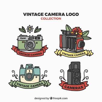 Logótipos de câmera vintage configurados