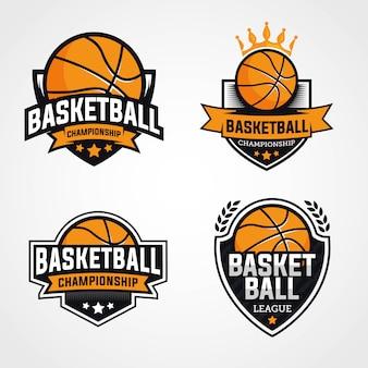 Logotipos de campeonato de basquete