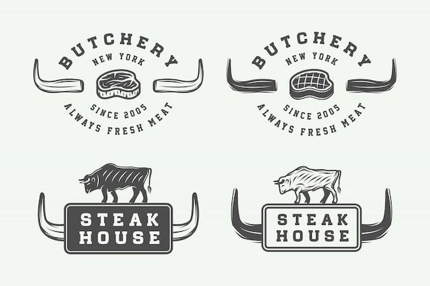 Logotipos de carne de açougue