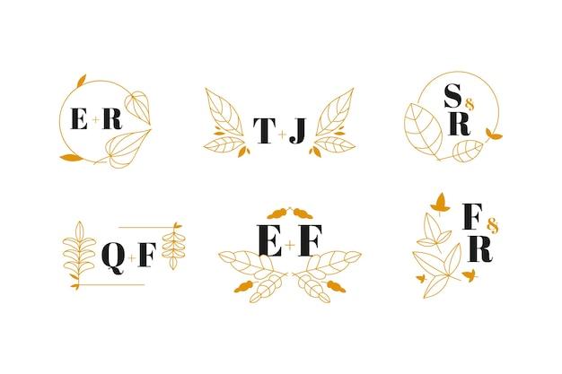 Logotipos de casamento elegante